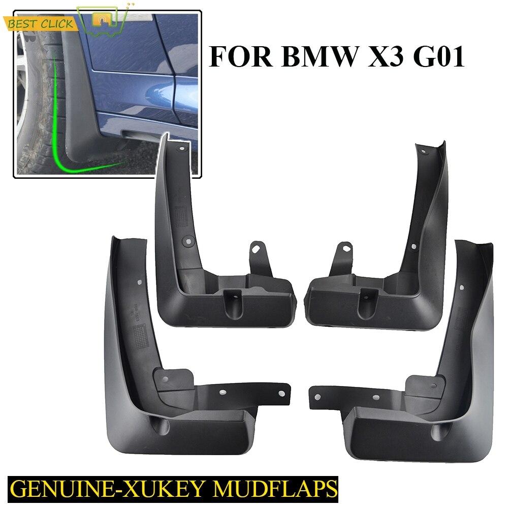 Set Molded Mud Flaps For BMW X3 G01 2018 2019 Mudflaps Splash Guards Mud Flap Mudguards Fender Front Rear 2017 Accessories